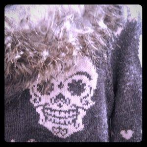 Lucky Brand Sweater Skull Hoodie